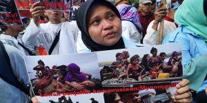 Arakan'daki Zulümler Endonezya'da Protesto Edildi