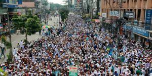 Myanmar'ın BM Misyonu Önünde Protesto