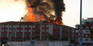 Konya'da İmam Hatip Lisesi ve Kız Öğrenci Yurdunda Yangın