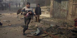 İdlib'e Rejim ve Rusya'dan Bir Ayda 767 Hava Saldırısı!