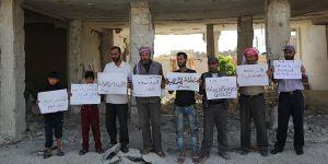 Doğu Guta'daki Kuşatmaya İdlib'de Protesto!
