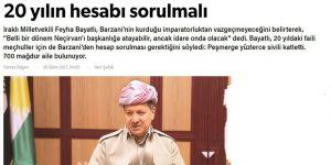 Bazıları Barzani Uluslararası Savaş Suçları Mahkemesi'nde Yargılansa Ancak Rahatlayacak!