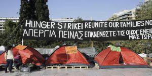 Yunanistan'daki Sığınmacılar Açlık Grevinde