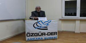 """Ankara Özgür-Der'de """"Kader ve Kaza Bağlamında İnsanın Fiilleri"""" Konuşuldu"""