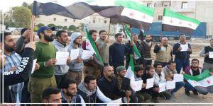 Münbiç Sakinleri PYD'nin Zorla Askere Alma Politikasına Karşı