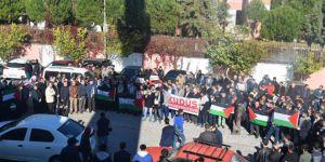 ABD'nin Kudüs Kararı Adnan Menderes Üniversitesi'nde Protesto Edildi