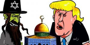 Trump'ın Kudüs Kararının Karikatürlere Yansıması