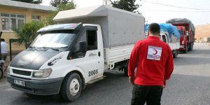Türk Kızılayı'ndan Suriyelilere 188 Araçlık Kış Yardımı