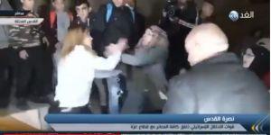 Kudüs Muhafızı Kadın İşgalci Polise Dersini Verdi