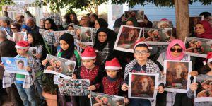 Lübnan'da Filistinli Ahed İçin Destek Gösterisi