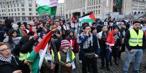 ABD'nin Kudüs Girişimi Belçika'da Protesto Edildi