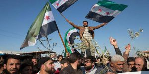 Suriyelilerden Zeytin Dalı Harekâtı'na Destek Gösterisi