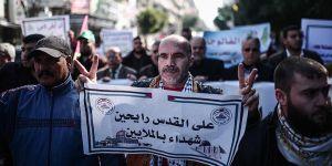 """Gazze'de """"Kudüs'e Destek Yürüyüşü"""" Düzenlendi"""