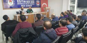 """Muş Özgür-Der'de """"Said Nursi"""" Semineri Gerçekleştirildi"""