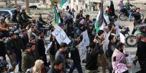 İdlib'de Doğu Guta Kuşatması Protesto Edildi