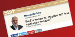 Mehmet Metiner İktidara Baskı Yapmaya Çalışan Esed Lobisine Dikkat Çekmiş!