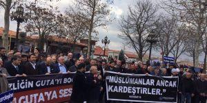 Doğu Guta'daki Katliamlar Ankara'da Protesto Edildi