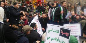 Doğu Guta'daki Katliamlar Fatih'te Protesto Edildi