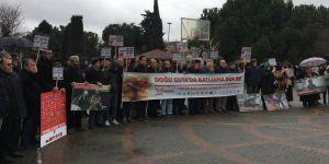 Doğu Guta'daki Katliamlar Küçükçekmece'de Protesto Edildi