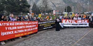 Suriye'de Mahpus 6736 Kadın İçin Amasya'da Vicdan Çağrısı Yapılarak Guta Katliamı Lanetlendi