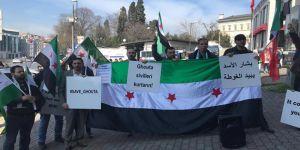 Doğu Guta'daki Katliamlar Protesto Edildi