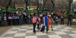 Bursa'da Doğu Guta Katliamları Protesto Edildi