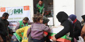 İHH'dan Afrin'deki Ailelere İnsani Yardım