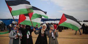 Filistinliler 'Büyük Dönüş Yürüyüşü'nde Buluştu