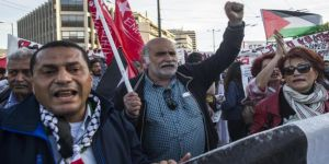 Atina'da Filistinlilerin Büyük Dönüş Yürüyüşü'ne Destek Gösterisi