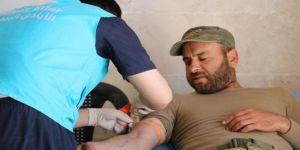 İdlibliler Doğu Guta İçin Kan Bağışında Bulundu