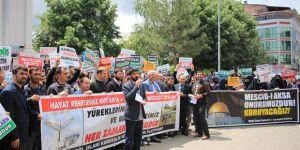 İsrail ve Fransa Bingöl'de Protesto Edildi