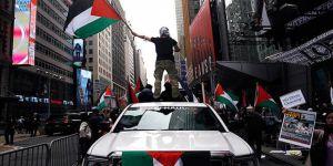 İsrail'in Gazze Katliamına ABD'de Protesto