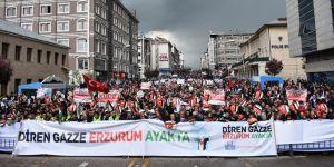 Erzurum'da Kudüs Yürüyüşü