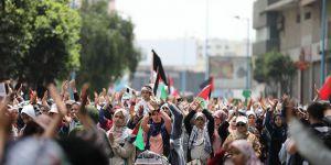 Fas'ta 'Büyük Dönüş Yürüyüşü'ne Destek Gösterisi