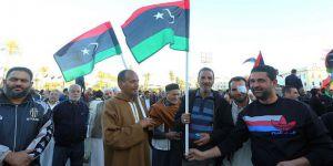 Hafter'in Derne Operasyonları Trablus'ta Protesto Edildi