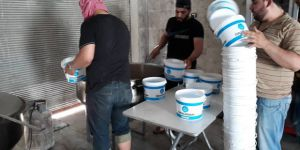 Özgür-Der'den Çadır Kamplardaki Suriyeli Kardeşlerimize Sıcak Yemek
