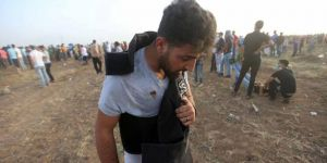 AA Muhabiri Gazze Sınırında Yaralandı