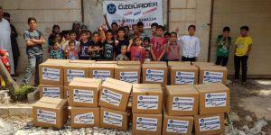 Özgür-Der'den Suriyeli Kardeşlerimize Ramazan Kumanyası