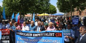 Uygur Katili Çin Ankara'da Protesto Edildi