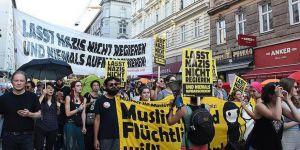 Avusturya Hükümetine 'Nazilere Hayır' Protestosu