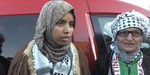"""Filistinli Genç Kadından """"Han el-Ahmer Bizim Kalacak"""" Mesajı"""