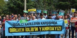 İdlib'e Dönük İşgal Girişimi Amasya'da Protesto Edildi