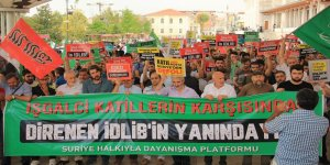 İdlib'e Yönelik İşgal Hazırlığı İstanbul'da Protesto Edildi