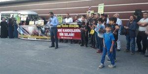 İdlib'e Yönelik İşgal Girişimi Tatvan'da Protesto Edildi