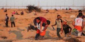 İşgal Güçleri Gazze Sınırındaki Gösteriye Müdahale Etti