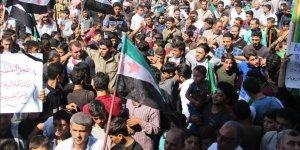 İdlibliler Rejimin Alıkoyduğu Sivillere Özgürlük İstedi