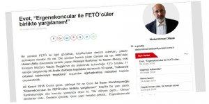Ergenekon-Balyozcular da FETÖ'cüler Gibi Sanık Sandalyesine Oturtulmalı!
