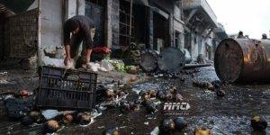 Esed ve Rusya Katilleri Maret Numan'da Sivil Yerleşim Birimlerini Bombaladı