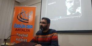 Antalya Özgür-Der'de Malcolm X Semineri