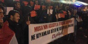 """Taksim'de İdam Protestosu: """"Katil Sisi Hesap Verecek!"""""""